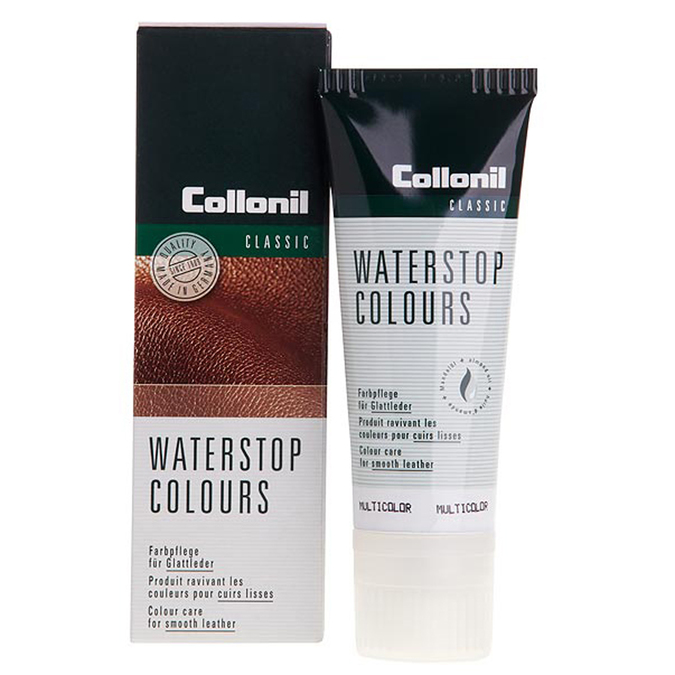 Water-stop cream in tube with application sponge collonil, neutral, black , 902-6072 - 13