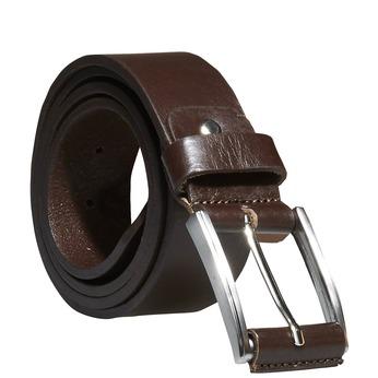 Classical leather belt bata, brown , 954-4833 - 13