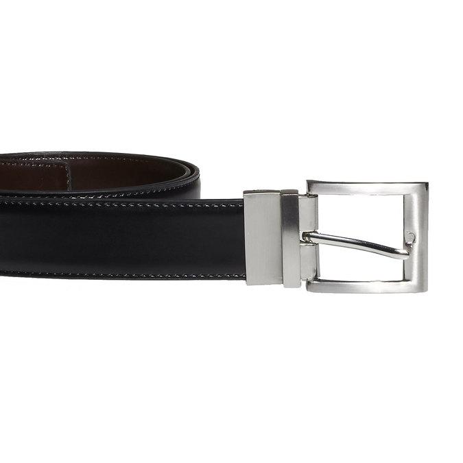 Men's Leather Belt bata, black , 954-6122 - 26