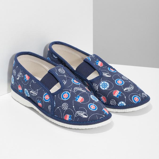 Children's slippers bata, blue , 379-9012 - 26