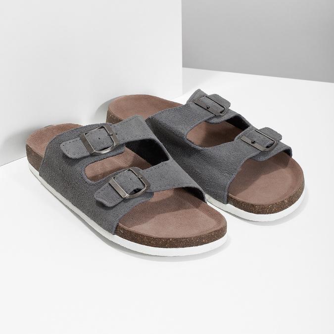 Men's slippers de-fonseca, gray , 873-2610 - 26