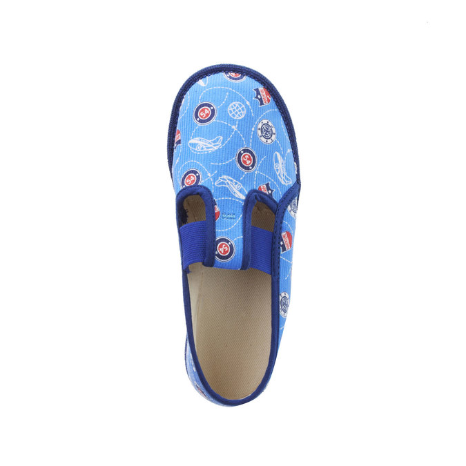 Children's slippers bata, blue , 279-9011 - 19