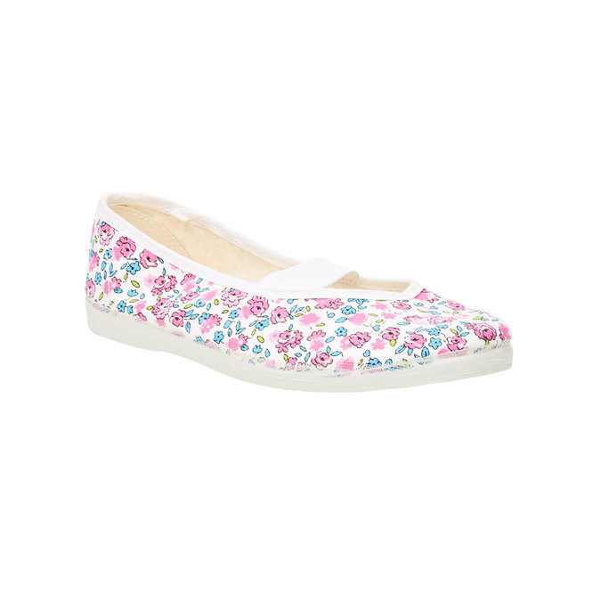 Children's gym shoes with floral pattern bata, pink , 479-5001 - 13
