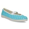 Blue gym shoes with polka dots bata, blue , 379-9103 - 13