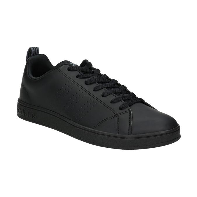 Men's black sneakers adidas, black , 801-6144 - 13