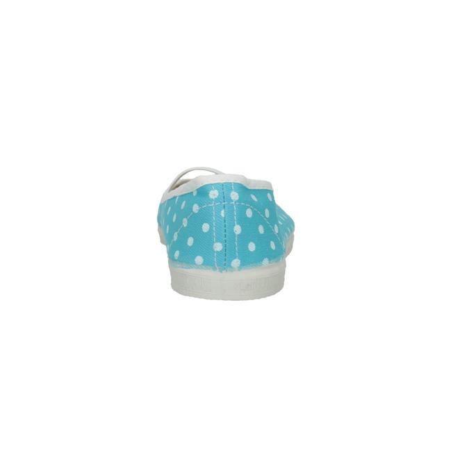 Blue gym shoes with polka dots bata, blue , 379-9103 - 17