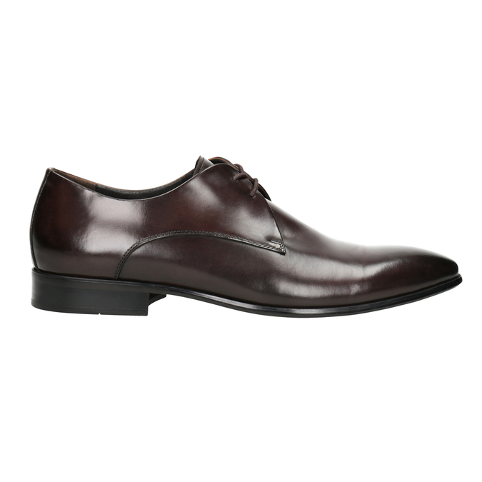 Men's Leather Lace-Ups bata, brown , 826-4648 - 26