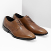 Brown Leather Derby Shoes bata, brown , 826-3646 - 26