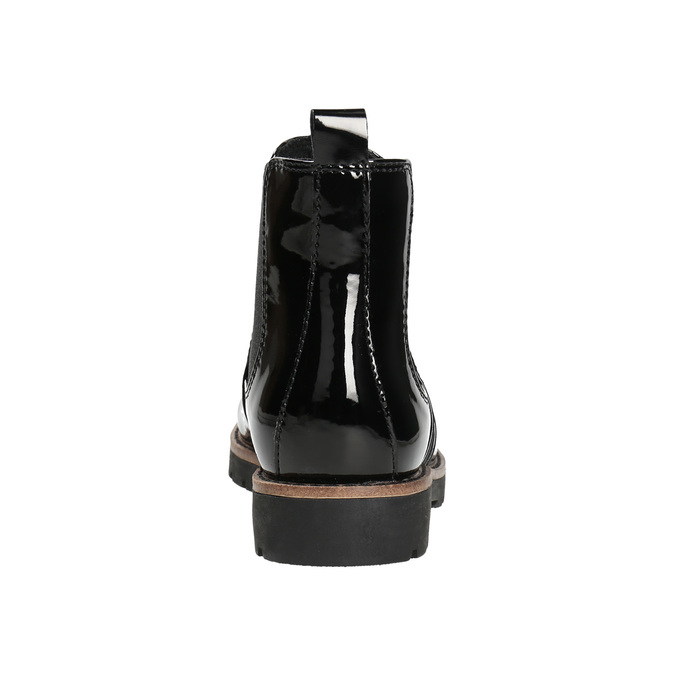 Patent leather Chelsea Boots with an eye-catching sole bata, black , 591-6603 - 17