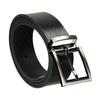 Gentlemen´s leather belt bata, black , 954-6129 - 13