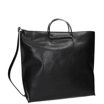 Ladies' handbag with metal handles bata, black , 961-6789 - 13