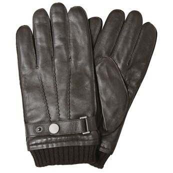Men's leather gloves bata, brown , 904-4127 - 13