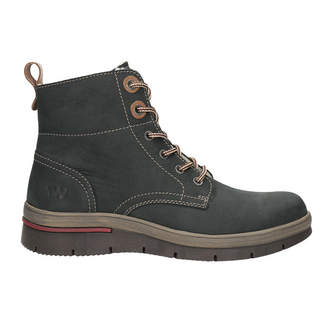 Ladies' leather  winter boots weinbrenner, gray , 596-2636 - 15