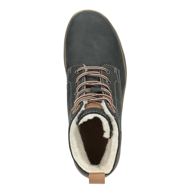 Ladies' leather  winter boots weinbrenner, gray , 596-2636 - 19