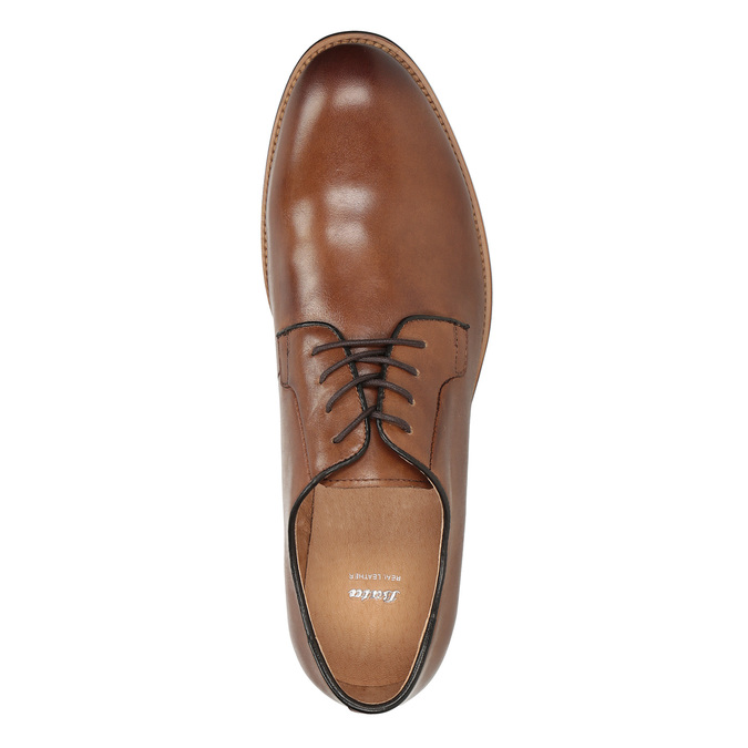 Men's thick-soled leather shoes bata, brown , 826-3809 - 17