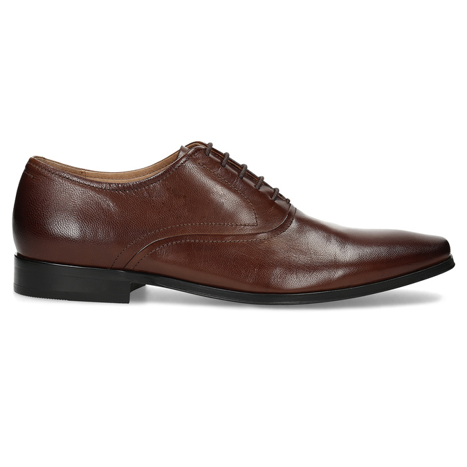 Brown leather Oxford shoes bata, brown , 826-3808 - 19