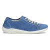 Casual leather low shoes weinbrenner, blue , 546-9603 - 19