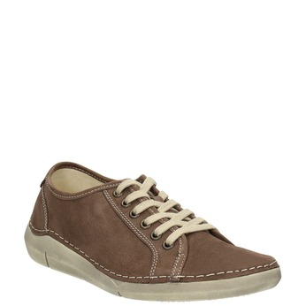 Casual leather shoes for ladies weinbrenner, brown , 546-4603 - 13