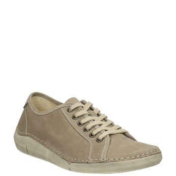 Casual leather low shoes weinbrenner, beige , 546-2603 - 13