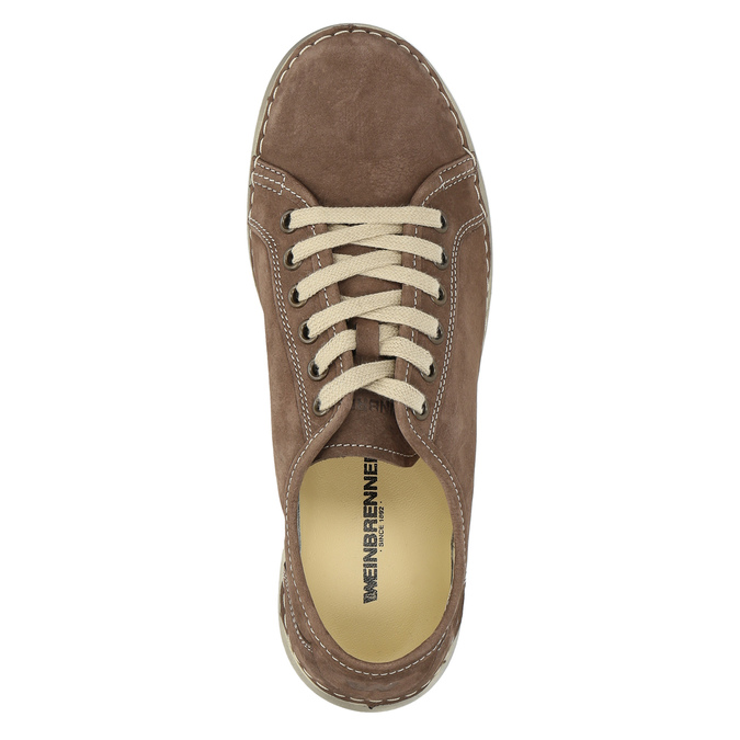 Casual leather shoes for ladies weinbrenner, brown , 546-4603 - 19