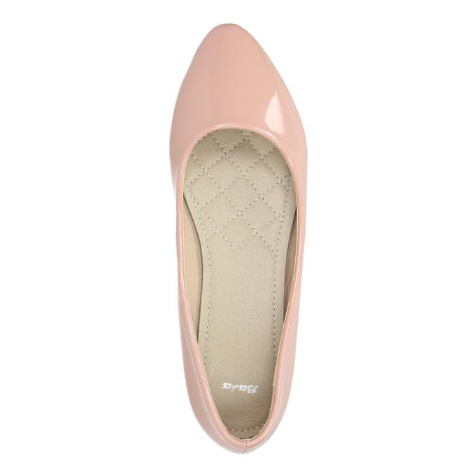 Ladies' patent-leather ballerinas bata, pink , 521-5602 - 19