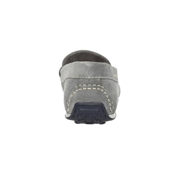 Men's brushed leather moccasins bata, gray , 853-2614 - 17