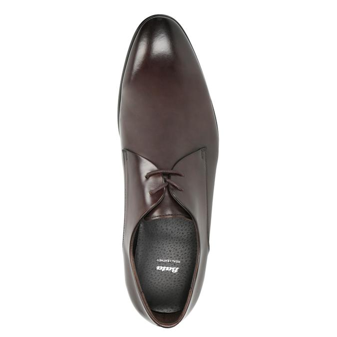 Men's Leather Lace-Ups bata, brown , 826-4648 - 15