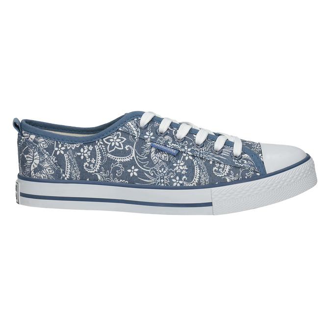 Ladies' patterned sneakers north-star, blue , 589-9445 - 15