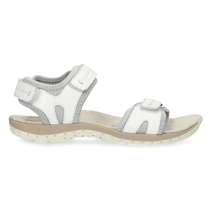 Ladies' leather sandals weinbrenner, white , 566-1608 - 19