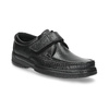 Men's leather shoes with Velcro pinosos, black , 824-6543 - 13