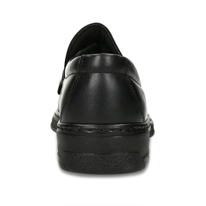 Men's leather moccasins with stitching pinosos, black , 814-6624 - 15