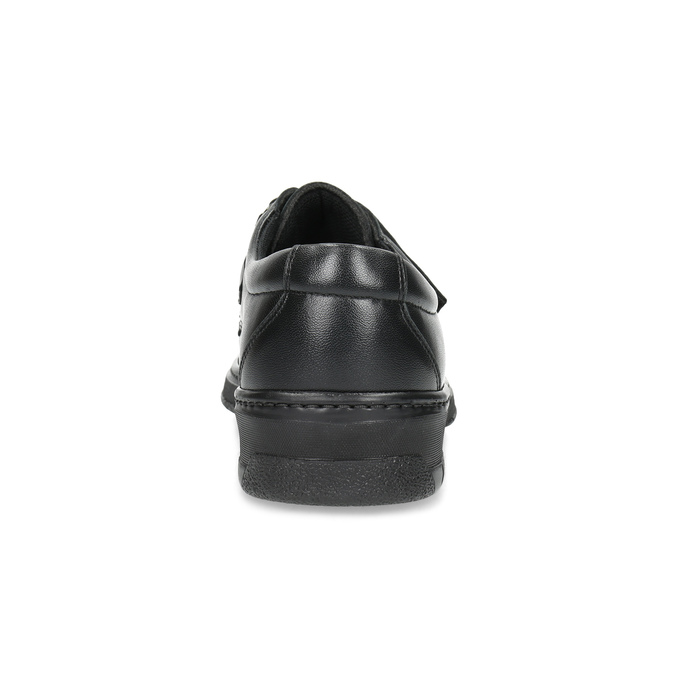 Men's leather shoes with Velcro pinosos, black , 824-6543 - 15