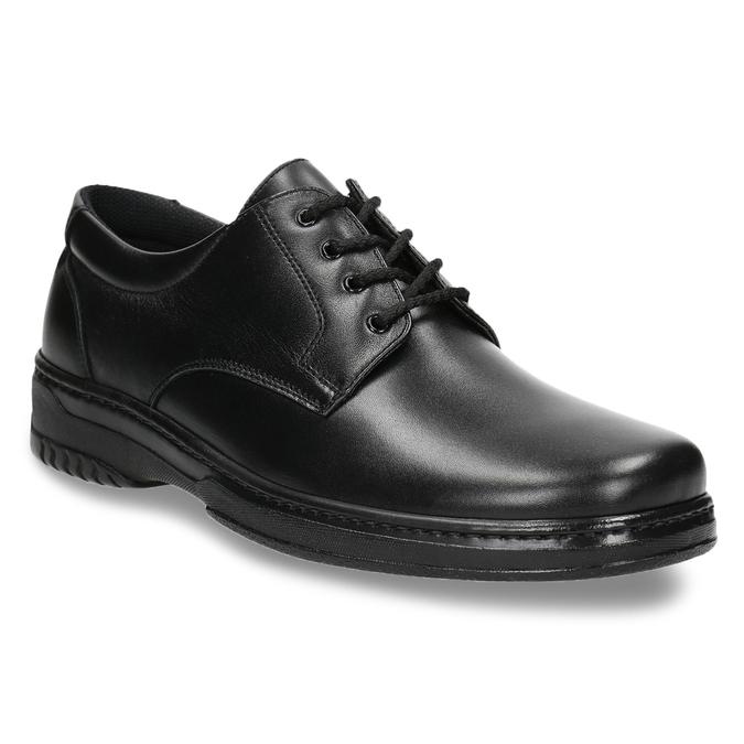 Men's shoes with a distinctive sole pinosos, black , 824-6540 - 13