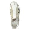 Men's leather sandals bata, white , 866-1622 - 17