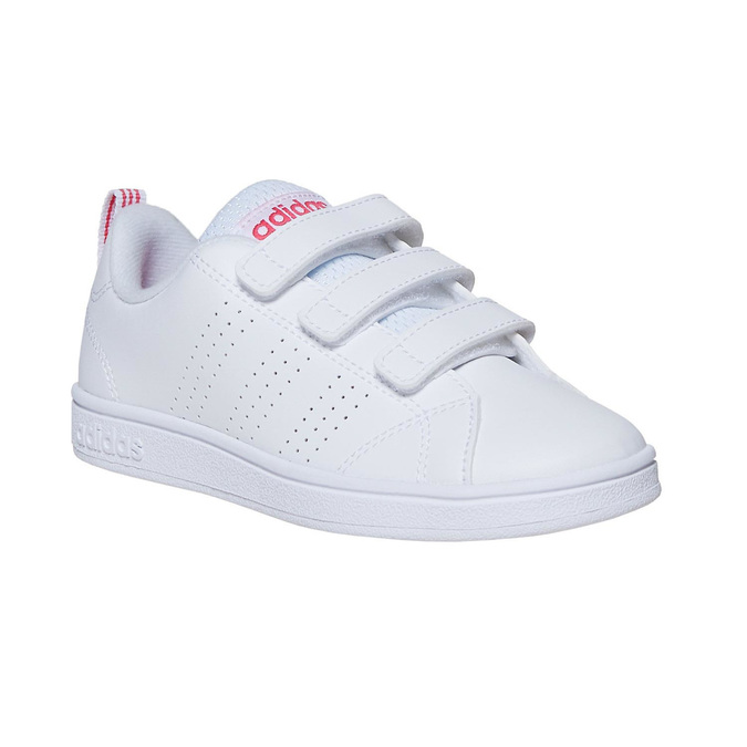 Girls' sneakers with Velcro adidas, white , 301-1268 - 13