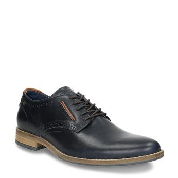 Informal leather shoes bata, blue , 826-9910 - 13
