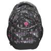 School backpack with print bagmaster, black , 969-6650 - 26