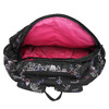 School backpack with print bagmaster, black , 969-6650 - 15