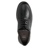 Casual leather shoes with stitching comfit, black , 824-6987 - 26