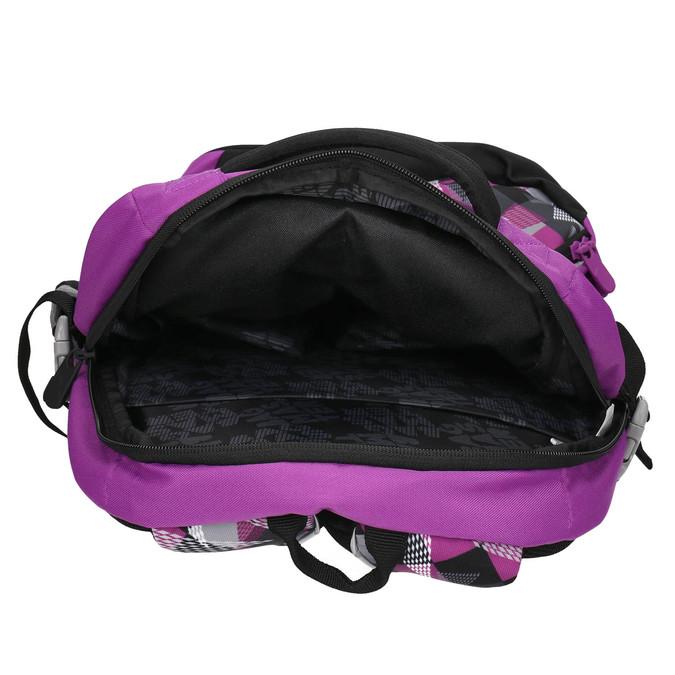 School backpack with print bagmaster, violet , 969-5656 - 15