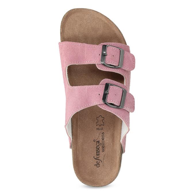 Ladies' leather sandals de-fonseca, pink , 573-5621 - 17