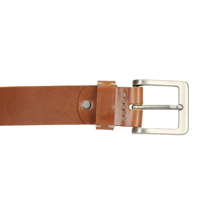 Men's leather belt bata, brown , 954-3191 - 26