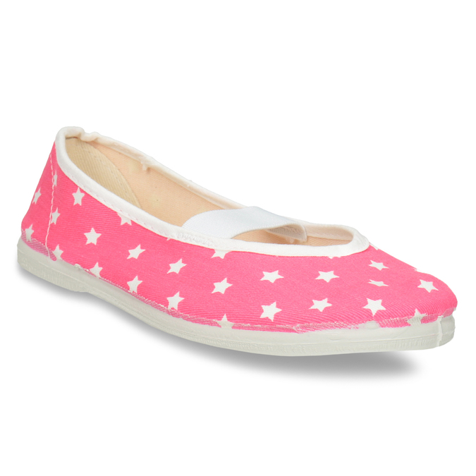 Children's Gym Shoes with Stars bata, pink , 379-5217 - 13