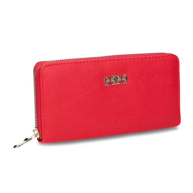 Red ladies' wallet bata, red , 941-5180 - 13