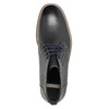 Men's ankle boots with stitching bata, black , 826-6614 - 19