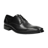 Black leather Derby shoes bata, black , 824-6405 - 13