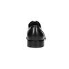Black leather Derby shoes bata, black , 824-6405 - 17