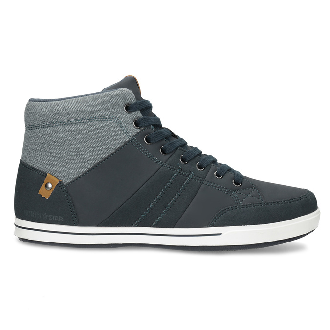 Blue high-top sneakers north-star, blue , 841-9608 - 19
