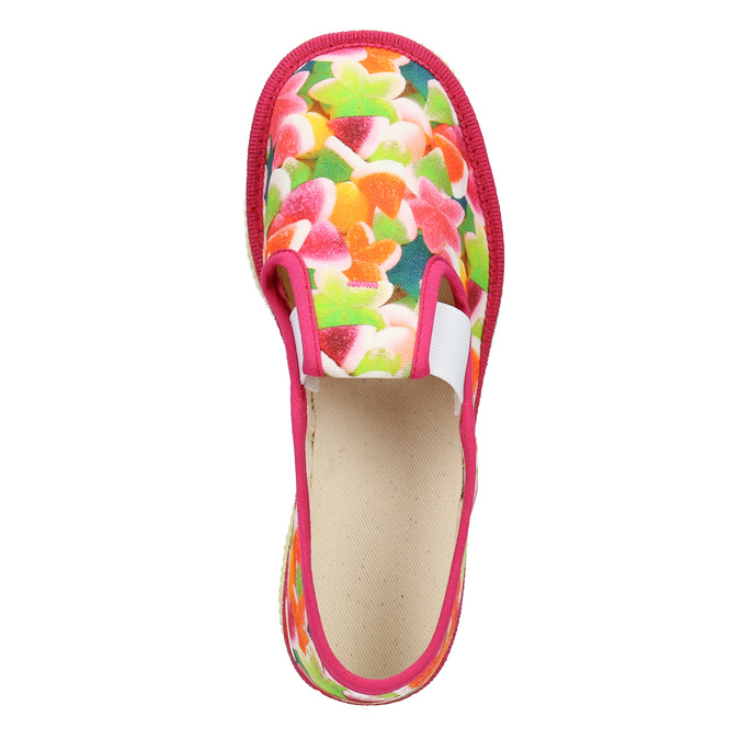 Girls' patterned slippers bata, pink , 279-5122 - 15