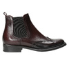 Chelsea style leather boots bata, red , 594-5638 - 15